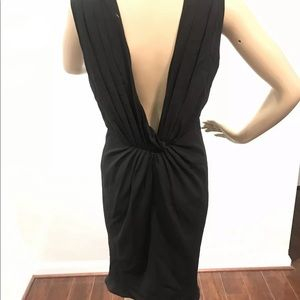 Blumarine GREEK GODDESS Silk Black Dress 44/US 4 S